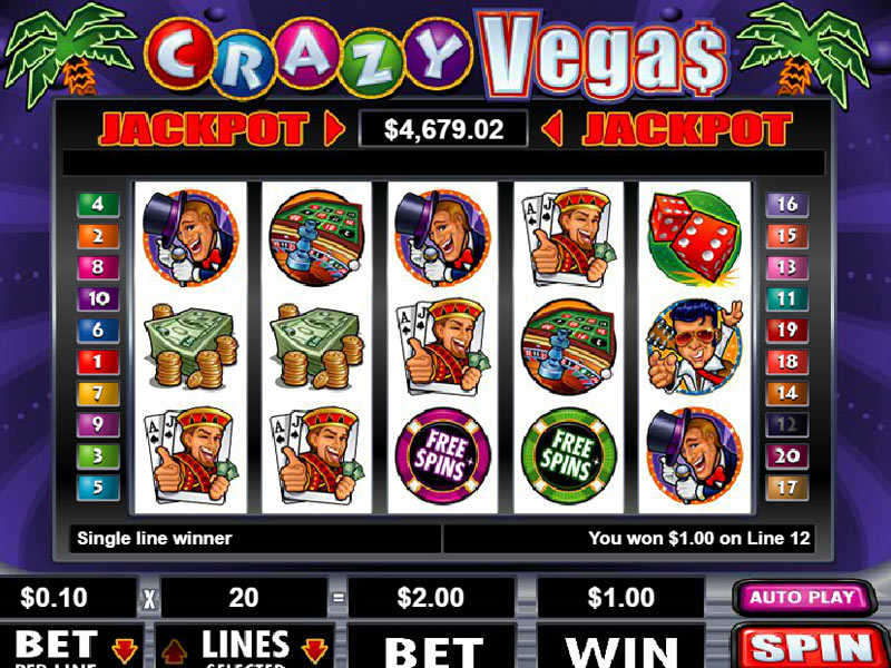 illustration of a gaming machine Crazy Vegas