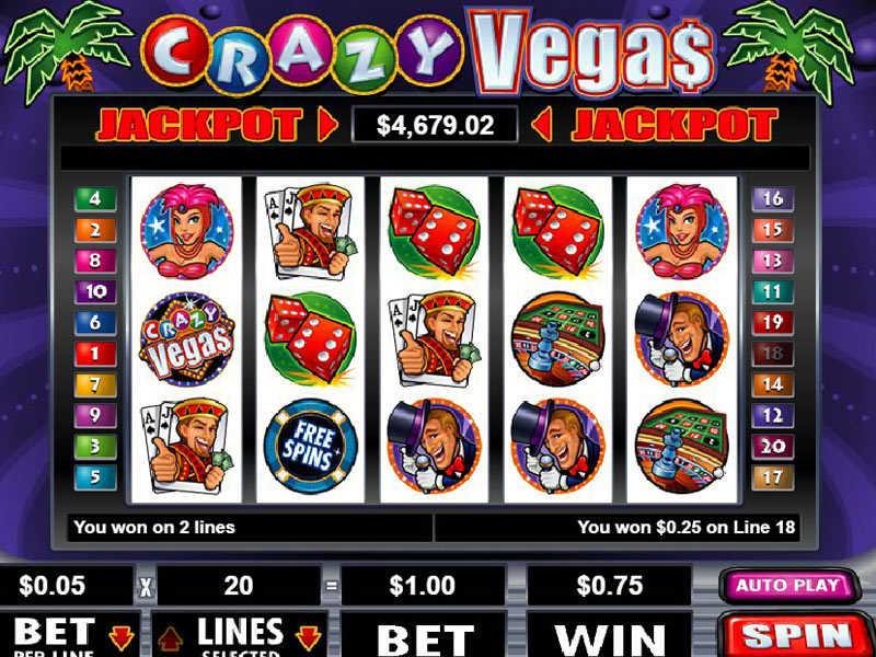 illustration of a gaming machine Crazy Vegas 2
