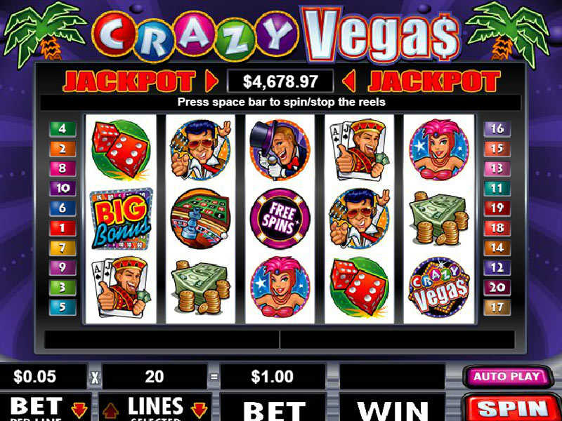 illustration of a gaming machine Crazy Vegas 3